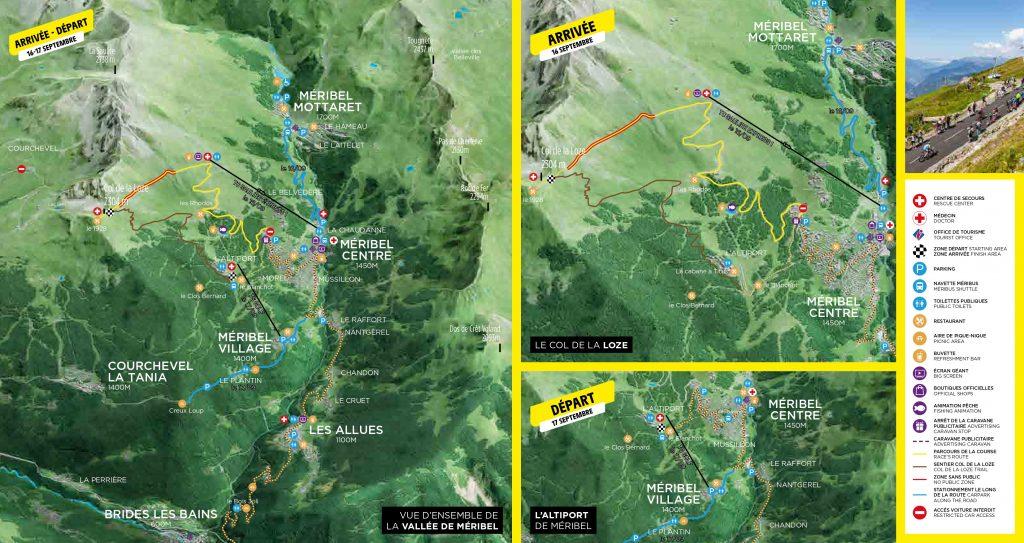Overview of Tour de France in Meribel