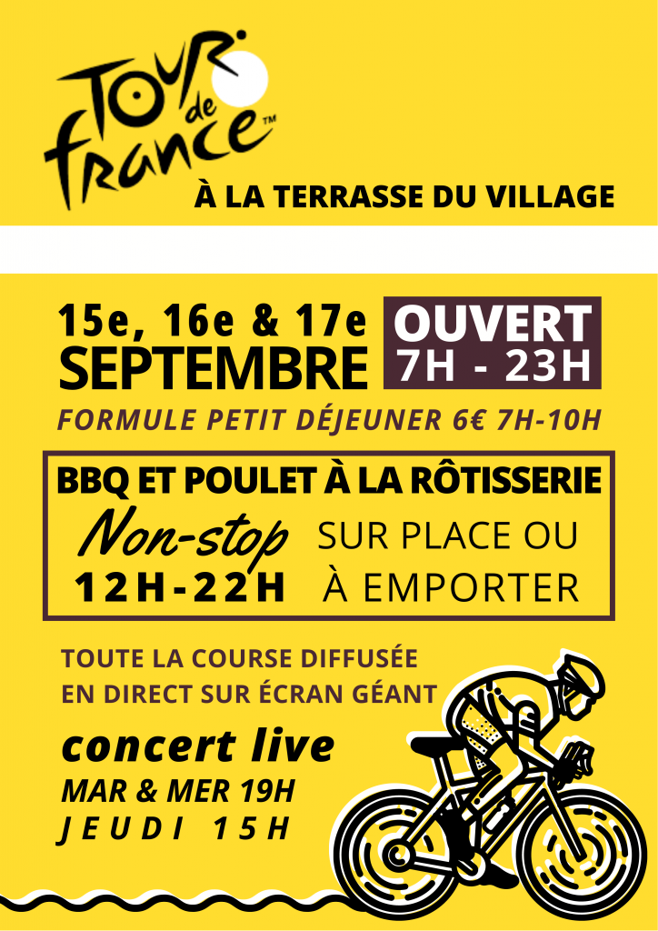 What's on at La Terrasse during the Tour de France